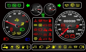 Car dashboard - automotive electronics